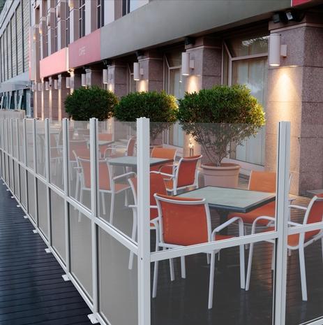 Paravento da esterno - Frangivento e divisori per locali e bar ...